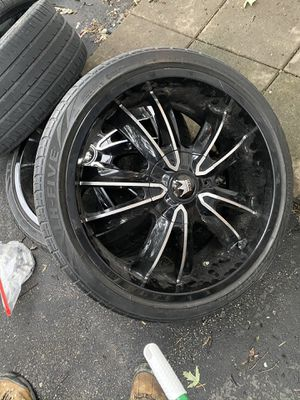20 inch rims and tires for Sale in Saint Ann, MO