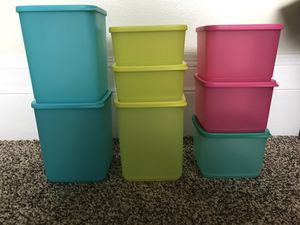 Tupperware Modular Containers (set of 8) for Sale in Saint Clair Shores, MI