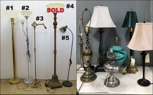 Lots of Table and Floor Lamps to Choose from with More in Stock - Starting at $5.00 for Sale in Chula Vista, CA