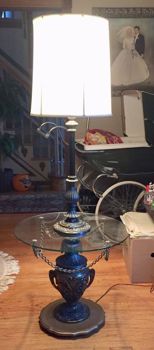 Price reduced Table lamp with new shade for Sale in Evesham Township, NJ