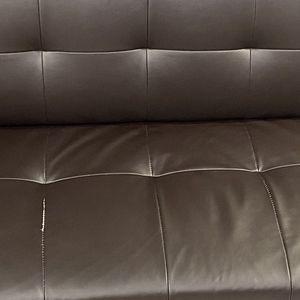 Espresso Brown Faux Leather Futon for Sale in Laguna Niguel, CA