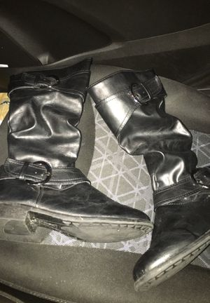 Black leather boots for Sale in Tampa, FL