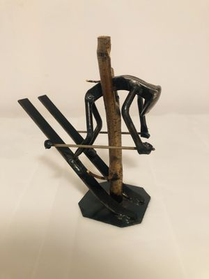 "Roland Metal Art Skier in tree sculpture 7"" for Sale in West Haven, CT"