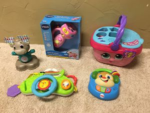Lot of toddler toys fisher price leapfrog and vtech toys for Sale in Aurora, CO