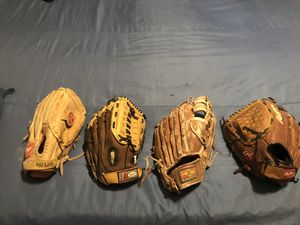 4 baseball glover used but in great condition $15 each or all 4 for $40 for Sale in La Puente, CA