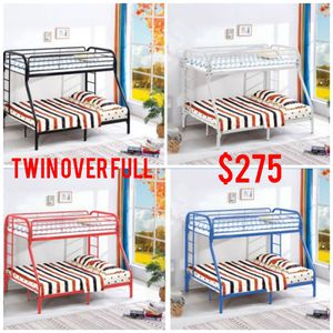 Twin over full metal bunk bed frames for Sale in CHATT HILLS, GA