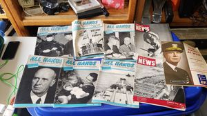 All Hands 1945 Navy Magazines all for $10 for Sale in Kent, WA