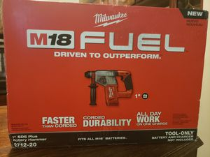 M18 FUEL 18-Volt Lithium-Ion Brushless Cordless 1 in. SDS-Plus Rotary Hammer (Tool-Only) for Sale in Riverside, CA