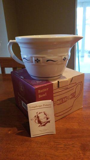 Longaberger batter bowl for Sale in Murrieta, CA