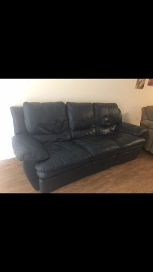Free dark blue reclining couch for Sale in Alexandria, VA