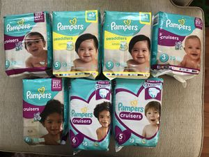 Pampers x 7 packs for Sale in Kensington, MD