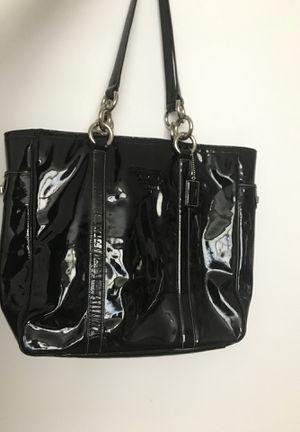 Black patent leather coach bag for Sale in Elkridge, MD