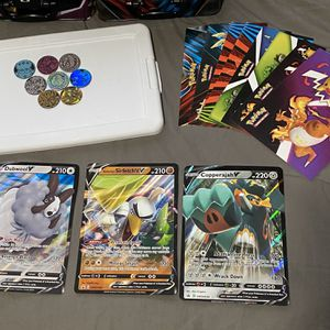Pokémon Bundle - Large cards, coins, stickers for Sale in St. Charles, IL