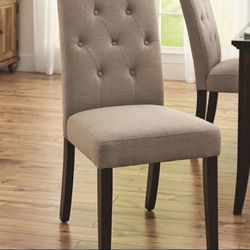 Brand New Contemporary Upholstered Tufted Dining Side Chair for Sale in Dunwoody, GA