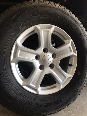 5 jeep wheels and tires Goodyear 245/75R17 for Sale in San Diego, CA
