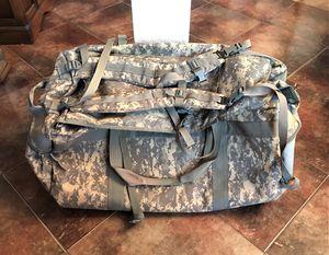 HUGE GENUINE MILITARY ISSUE DUFFEL BAG RUCKSACK BACKPACK NYLON HEAVY DUTY ARMY for Sale in San Antonio, TX