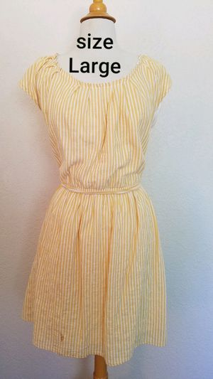 Yellow strip dress for Sale in Fresno, CA
