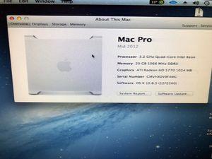 2012 mid Mac Pro 3.2ghz for Sale in Alexandria, VA