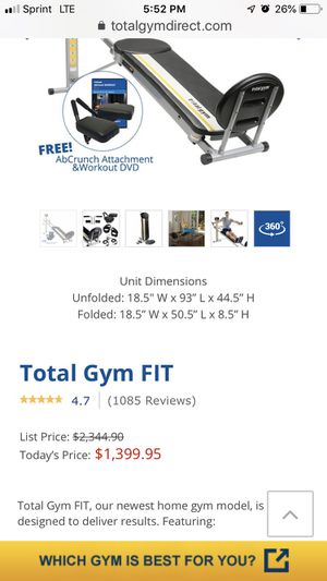 Total gym fit for Sale in Atascadero, CA