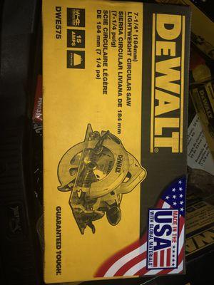 DeWalt LightWeight Circular Saw for Sale in Fort Washington, MD