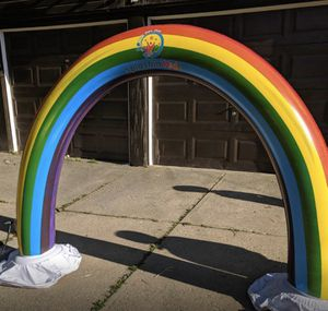 Inflatable pool outdoor water 8ft Rainbow Sprinkler Rainbow arch sprinkle for Sale in Scottsdale, AZ