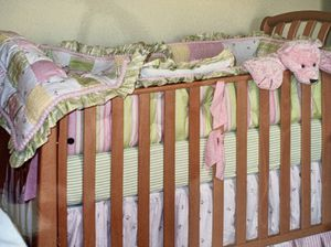 Bellini girl nursery crib bedding for Sale in Sanford, FL