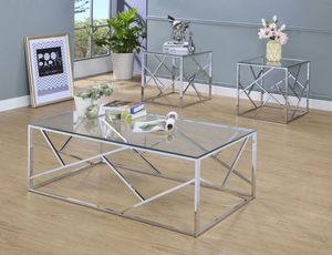 Pamplona Chrome Occasional Table Set for Sale in Sterling, VA