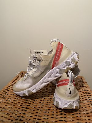Nike React Element 87 Shoes Sail Light Bone AQ1090-100 Size 10 for Sale in Brooklyn, NY