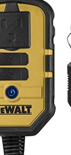 DEWALT DXAEPI140 Power Inverter 140W Car Converter: 12V DC to 120V AC Power Outlet with Dual 3.1A USB Ports for Sale in Fall River,  MA