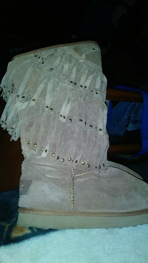 Brown fringe boots for Sale in Mooresville, IN