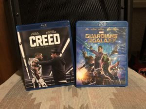 Creed and Marvel's Guardians of the Galaxy Blu-Ray for Sale in Denver, CO