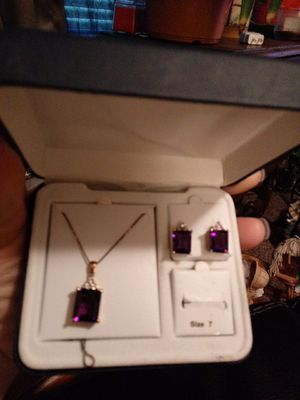 Amethyst ring and earings set for Sale in Great Falls, MT