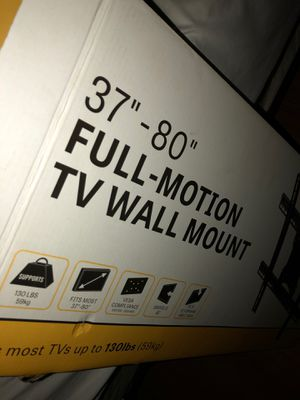 """TV Wall Mount Full Motion 37""""- 80"""" for Sale in Lake Worth, FL"""