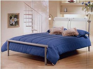 AMISCO Queen Sized Metal and Glass Platform Bed for Sale in Chicago, IL
