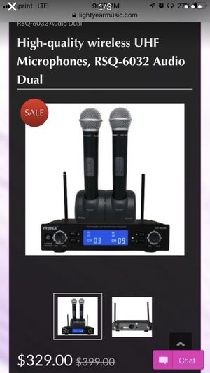Professional Wireless Microphones RSQ UhF 6032 Rechargable for Sale in Hayward, CA