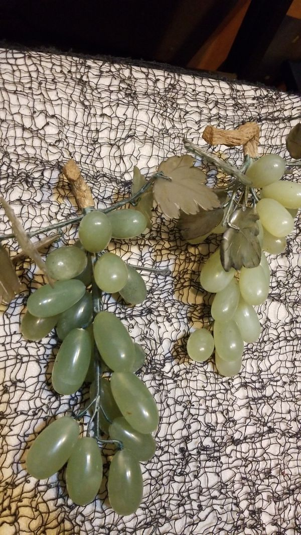 Jade grapes hand carved