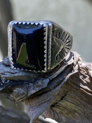 Vintage onyx men's ring sterling for Sale in Long Beach, CA