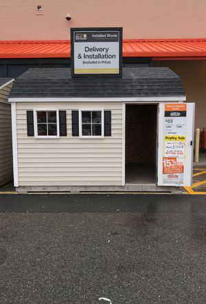 Sheds USA 10x12 Vinyl Horizon Shed Display now on sale at Home Depot Jericho NY for Sale in Westbury, NY