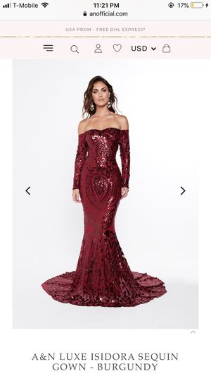 Burgundy Sequins Evening Gown/ Prom Dress for Sale in Silver Spring, MD