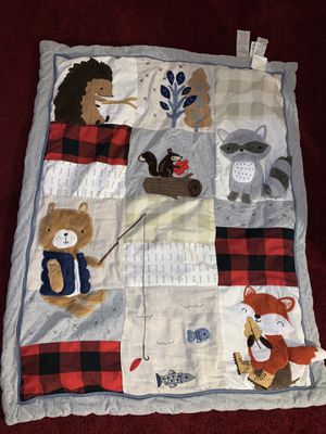 Lambs & Ivy Little Campers 5-Piece Crib Bedding Set - Blue, Red, Gray, Beige for Sale in San Diego, CA