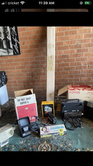 Vintage projectors and screen for Sale in Denver, CO