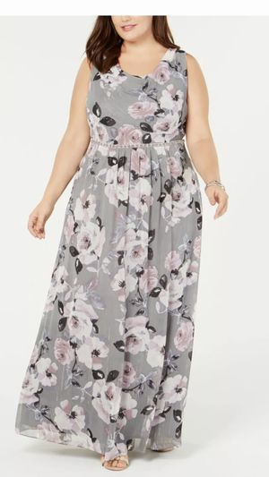 Women's Formal Dress Plus Size 20W Floral Gray Special Occasion Dresses for Sale in Burbank, IL