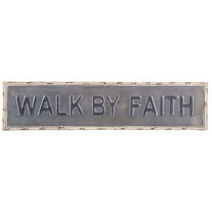 Walk By Faith Metal Wall Decor for Sale in Tempe, AZ