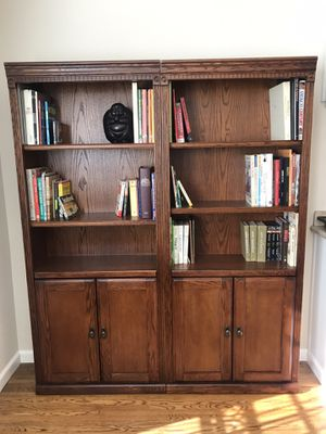 Matching wood book shelves with storage cabinets for Sale in La Mesa, CA