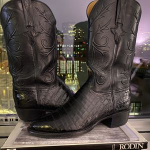 LUCCHESE MEN'S CAIMAN BELLY BOOTS - Size 8 - WOMEN'S for Sale in Aurora, CO