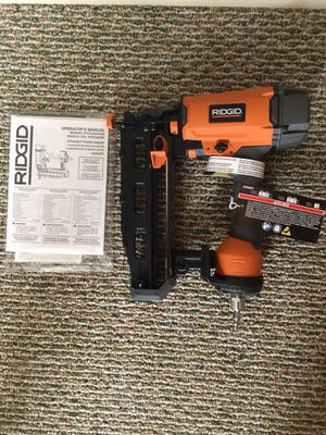RIDGID. 16-Gauge 2-1/2 in. Straight Finish Nailer. R250SFE. for Sale in Queens, NY