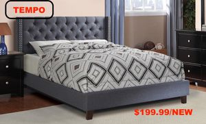 Queen Tufted Upholstered Bed Frame, Grey for Sale in Downey, CA