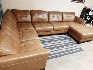 Absolutely gorgeous Italian leather large sectional couch for Sale in Renton, WA