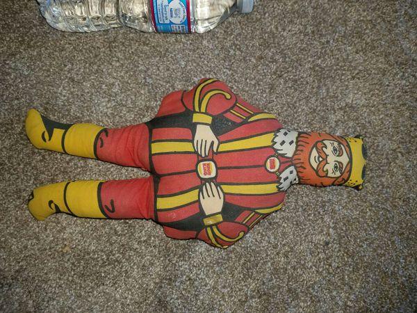 """1970s """"king"""" stuffed doll."""