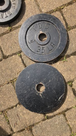 Pair of 35lb TDS Olympic weight plates for Sale in Dix Hills, NY